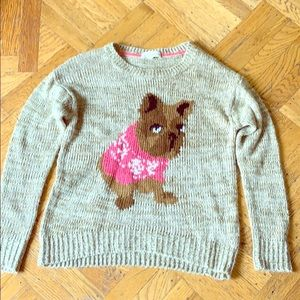 Sweater with dog wearing sweater. Small. SOFT